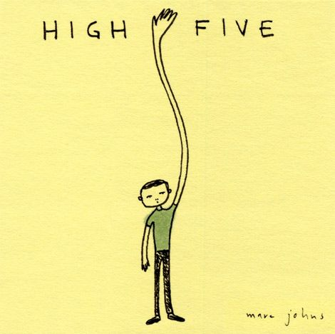 high five (drawing on a post-it note) by @Marc Johns - meeting cynthia's demand for higher-fives.