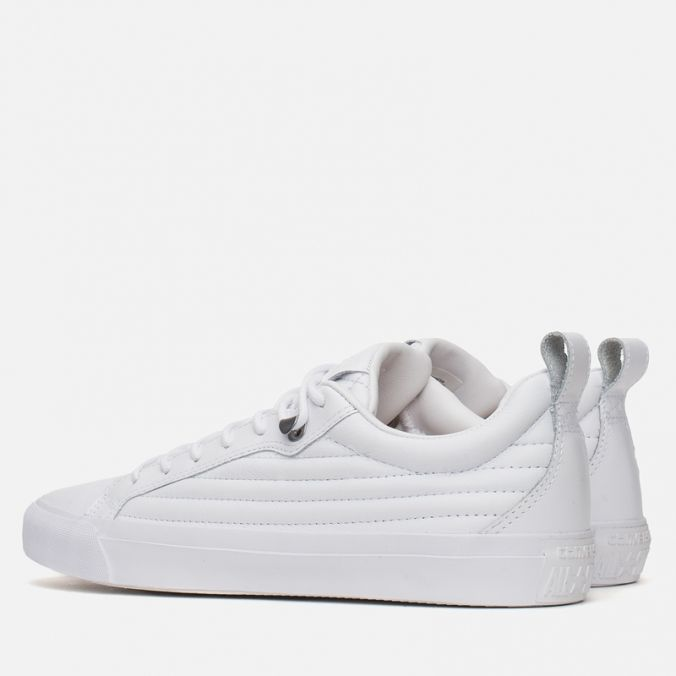 Кеды мужские Converse Fulton Mix Quilted Leather QS White/White