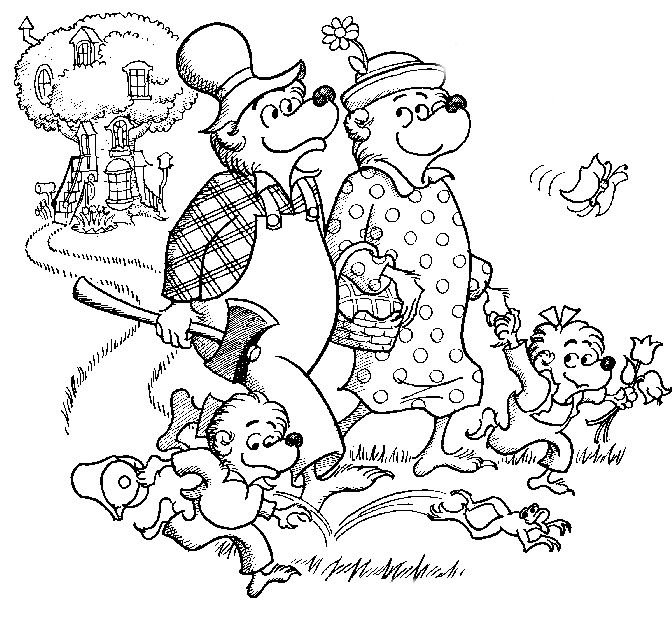 The Berenstain Bears Printable Coloring Pages