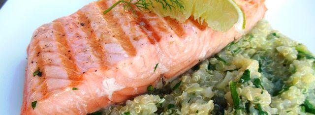 Quinoasalade met gegrilde zalm - Jude's Diner