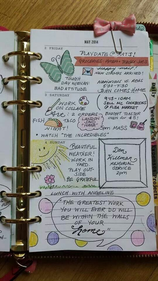 I love this Smashed planner page. I love the creativity behind the planned day.