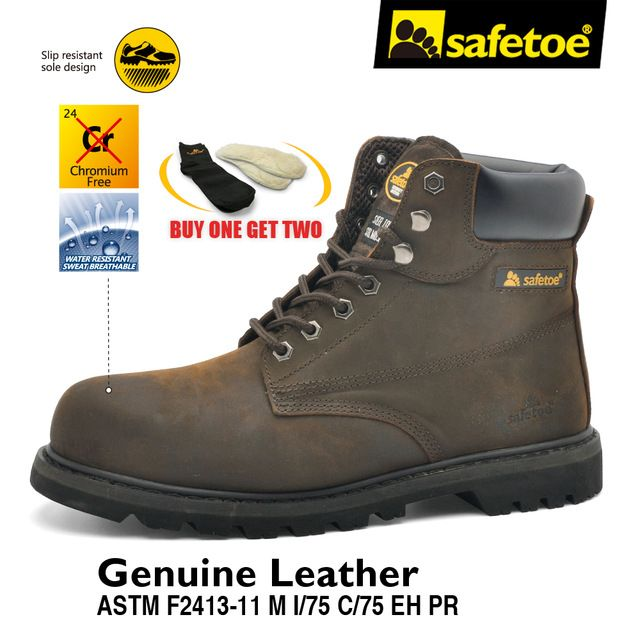 Safetoe Mens Work Boots Safety Shoes