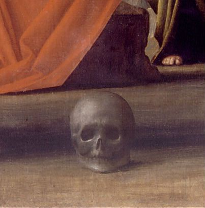 Bramante, Crocifissione (dettaglio).