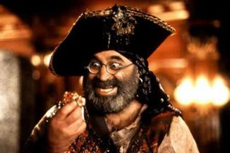 "Bob Hoskins as ""Smee"" in 'Hook'"