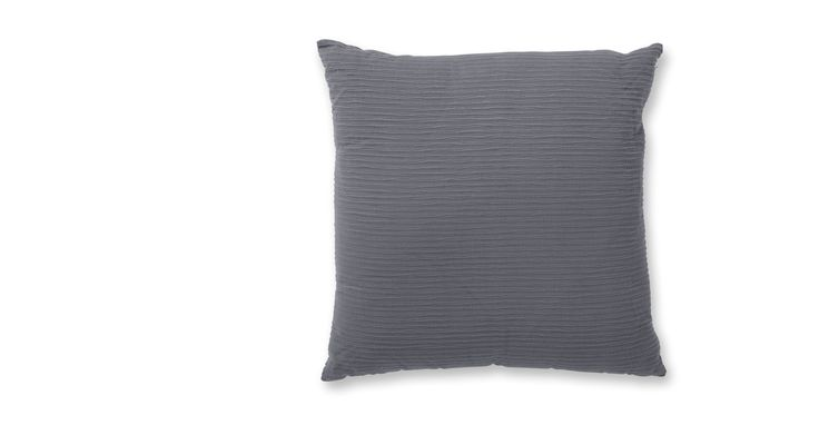 Bark 65cm x 65cm 100% Cotton Cushion with Feather Fill, Slate Grey