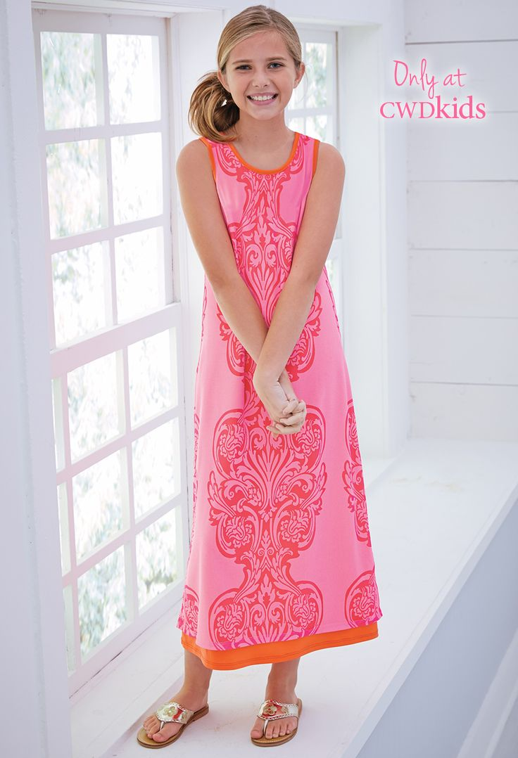 Only at CWDkids: Pink Paisley Maxi Dress