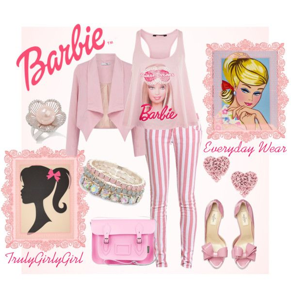 """Barbie: Everyday Wear"" by trulygirlygirl on Polyvore"