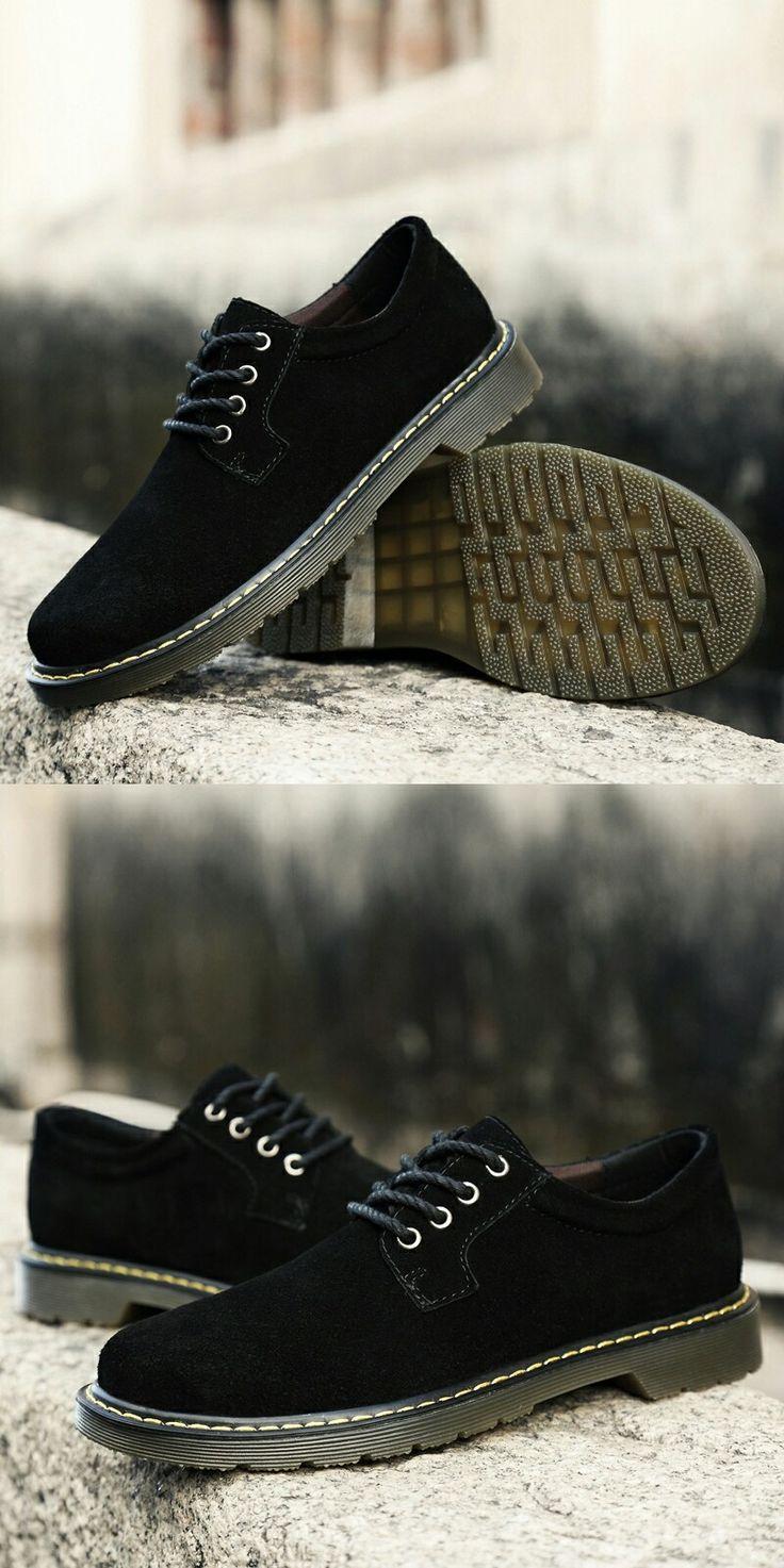 >> comprar aqui << Prelesty Inverno Quente Sapatos Masculinos de Couro Camurça Casual Flat Shoes Lace-up Flats dos homens para o Homem Sola de Borracha macio E Confortável