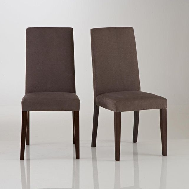 Chaise+microfibre,+(lot+de+2),+HARTFORD