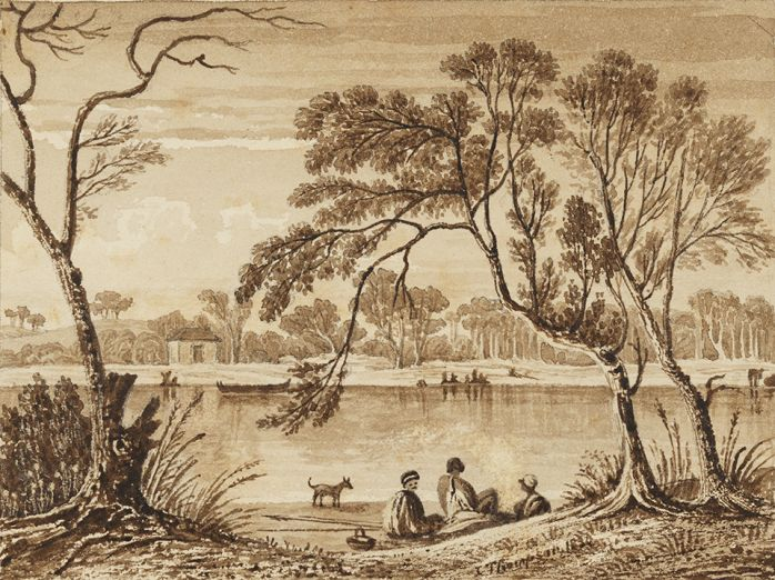 From Mud Bank Botany Bay - mouth of Cooks River 1830, Courtesy Dixson Library, State Library of NSW DL PXX 31, 2a