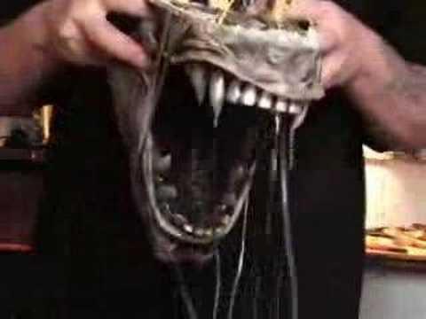 Alien animatronic mandibles
