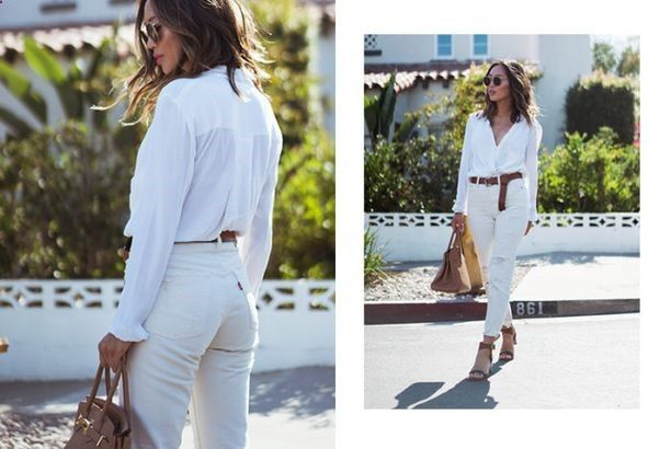 How To Wear Belts How to Wear White on White in Summer - Discover how to make the belt the ideal complement to enhance your figure.
