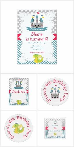 Birthday Party Set 26 - Prince Boy & Dragon