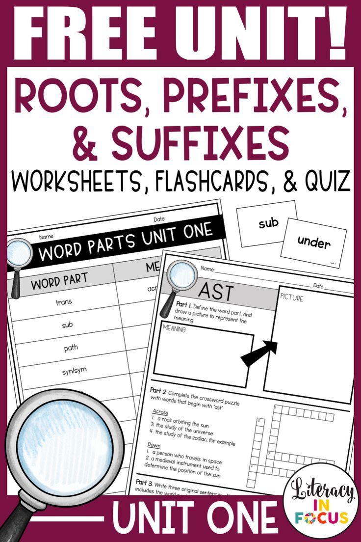 Root Words Prefixes Suffixes Unit 1 Free Root Words Prefixes Literacy Lessons [ 1104 x 736 Pixel ]