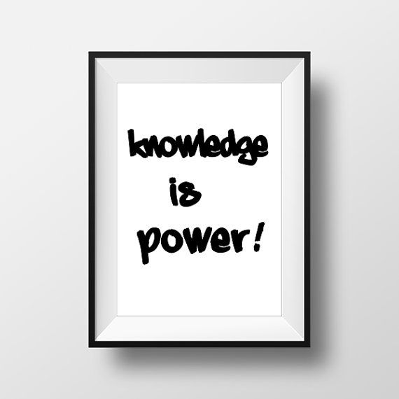 Knowledge is power PosterPrintable Home Decor Wall di ThatsAPoster