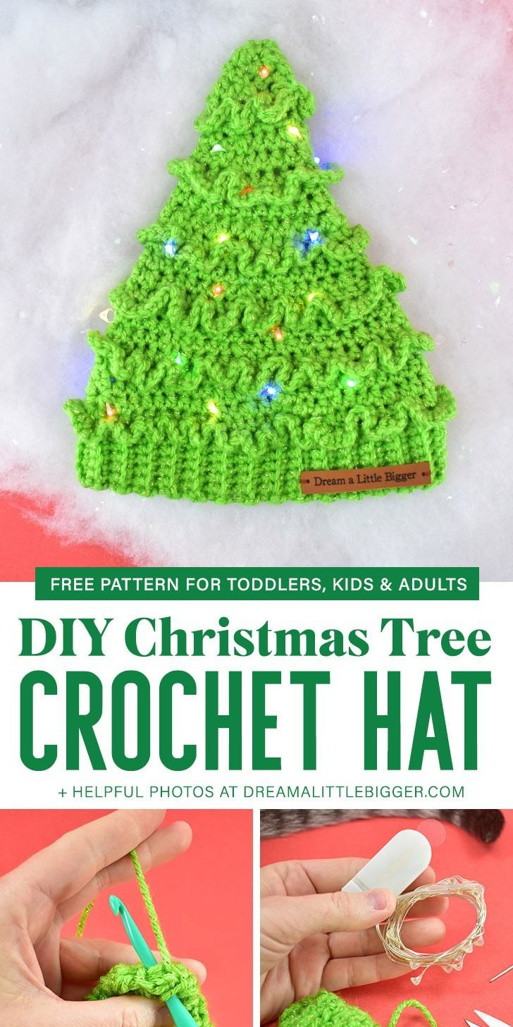 Crochet Christmas Tree Hats Free Pattern Christmas Tree Hat Crochet Baby Hats Free Pattern Baby Hat Free Pattern