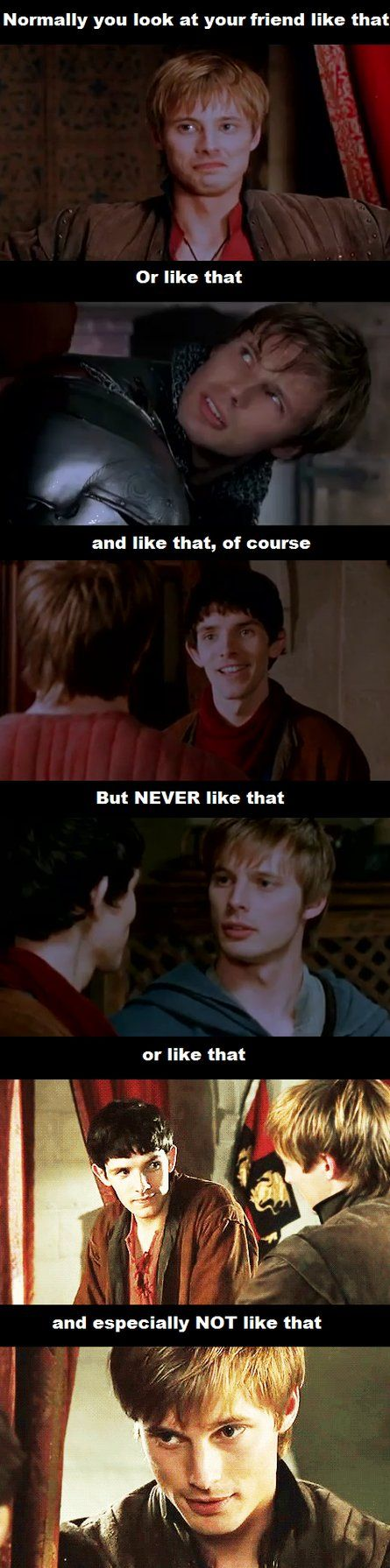 merthur fanart | Try to look at your best friend like that- Merthur by FreakyFangirl97