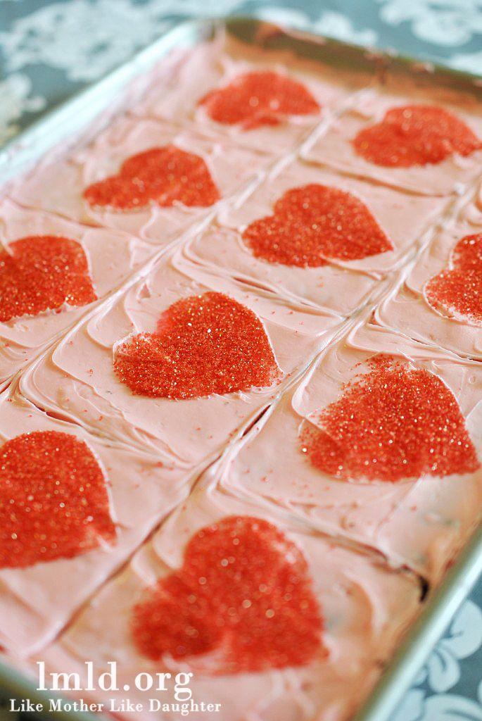 Easy Valentine Brownies - Like Mother Like Daughter