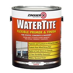Keep water out—even amidst weather fluctuations—with Rust-Oleum® Zinsser® WATERTITE® Flexible Primer and Finish. This low-VOC latex formula features Flex Technology, which expands and contracts to keep hairline cracks sealed. Easier to apply than elastomerics.