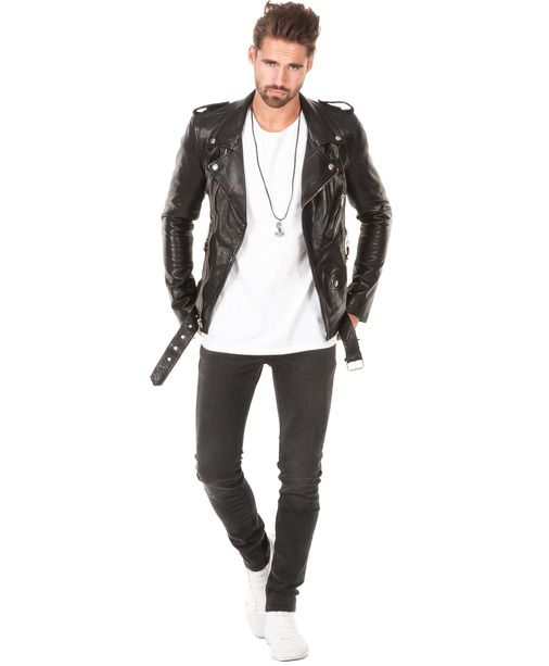 Skinnjacka från BLK DNM - Leather Jacket 5 Black - Stayhard märkeskläder och mode online