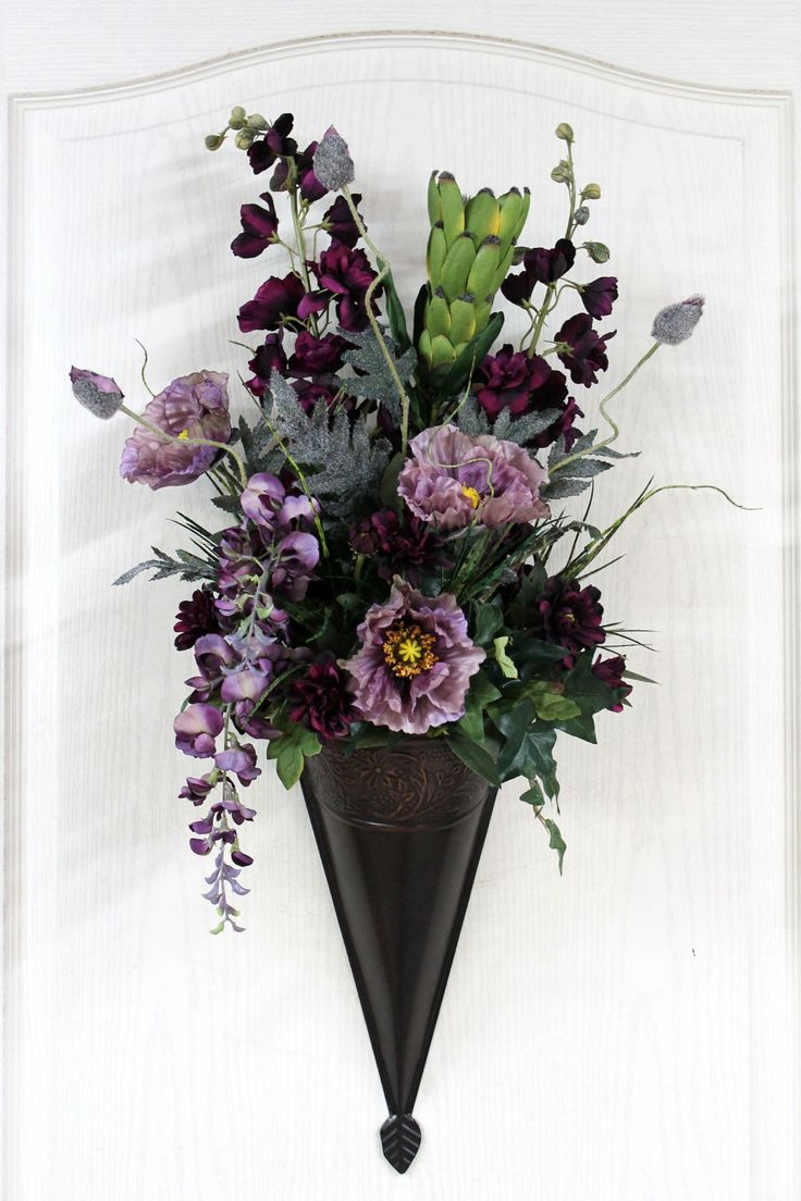 49 best sconces images on Pinterest   Flower arrangements ... on Wall Sconces That Hold Flowers id=47957