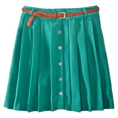 Xhilaration Pleated Button Up Skirt. One pleat item I would want. $17.99