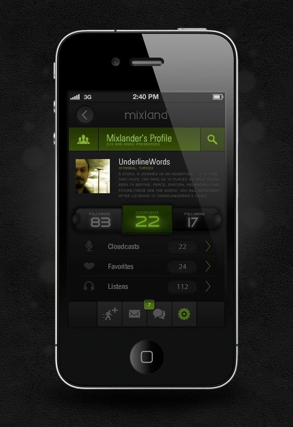 Mixland IPhone App on the Behance Network #Behance #Mobile #App
