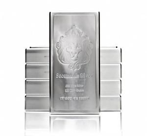 Buy 100oz Scottsdale Stacker Silver Bar 100 Troy oz .999 Silver Bullion #A209