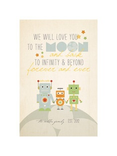 Oliver's 1st Birthday   'Robot Family', on Minted.com