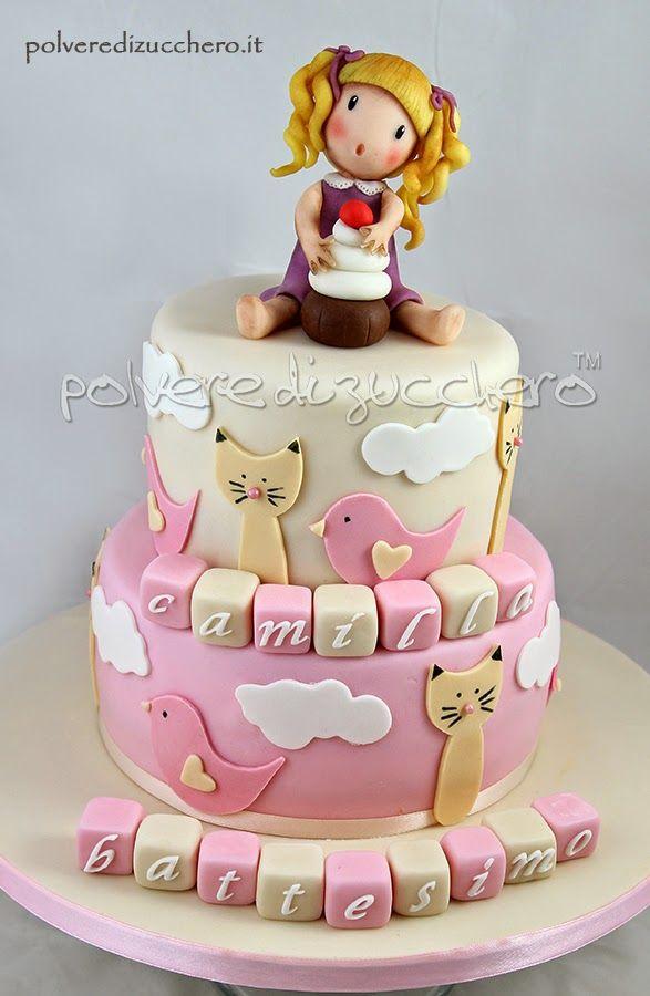 torta per il battesimo di una bimba