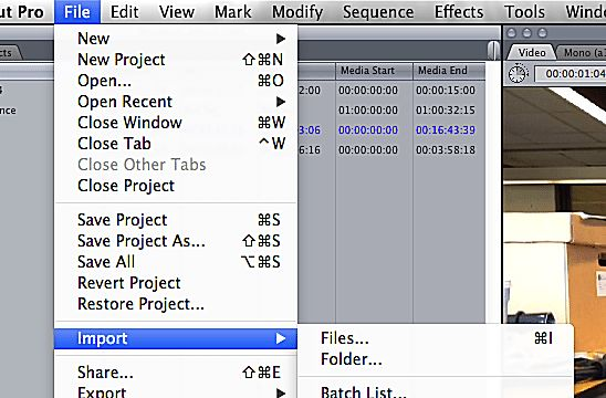 Learn to Import Video into Final Cut Pro 7