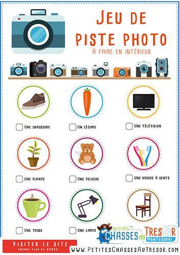 Chasse au trésor photo à imprimer pour enfant