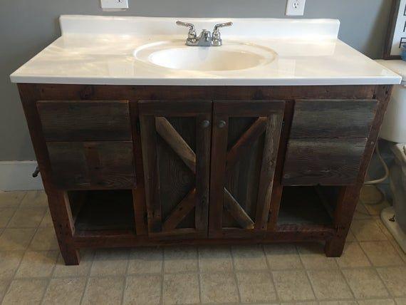Rustic Barnwood Bathroom Bundle 48 Vanity Barnwood Vanity Barn Wood Vanity