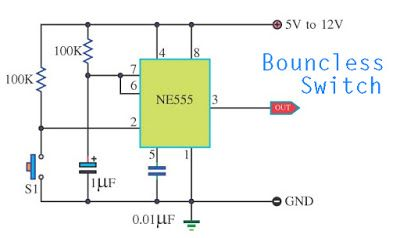 bouncless switch with ne555 circuit diagram today wiring diagram crystal oscillator bouncless switch with ne555 in 2019 1 circuit und electronics ne555 applications bouncless switch with ne555 circuit diagram