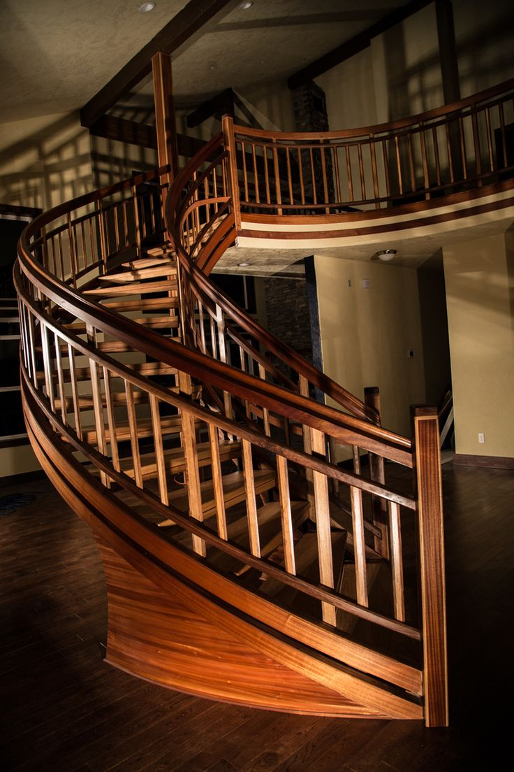Best Floating Curved Stair After Installation And Final Coats 400 x 300