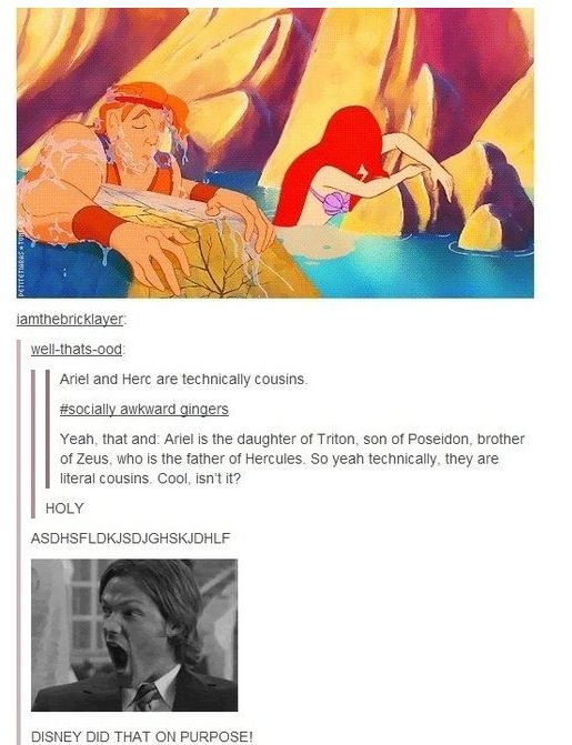 "But Tumblr user petitetiaras has an interesting fan theory that links them. | You Totally Missed This Connection Between ""Hercules"" And ""The Little Mermaid"""