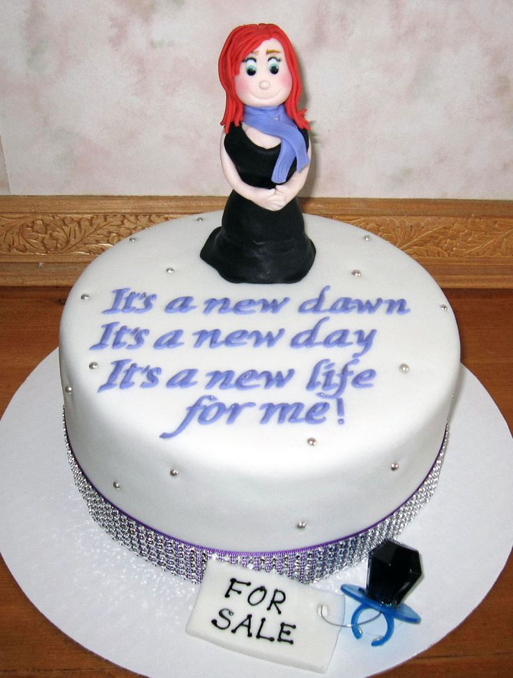 New Beginning Divorce Cake
