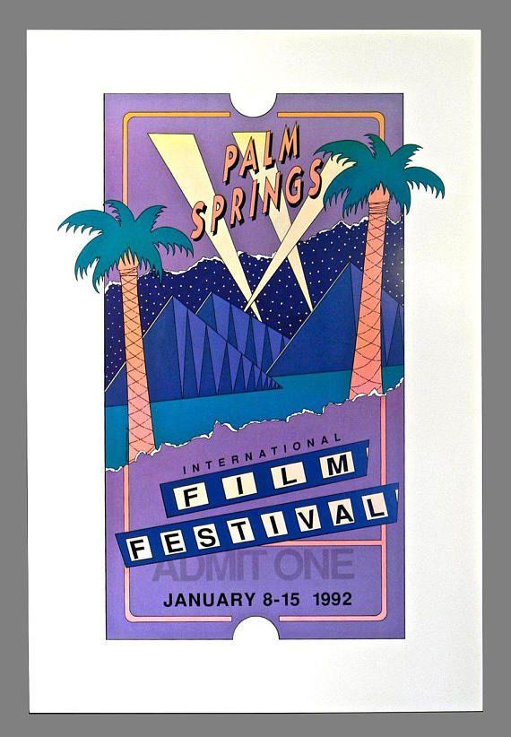 Original Third Annual Palm Springs INTERNATIONAL FILM FESTIVAL Poster, January 8 - 15, 1992