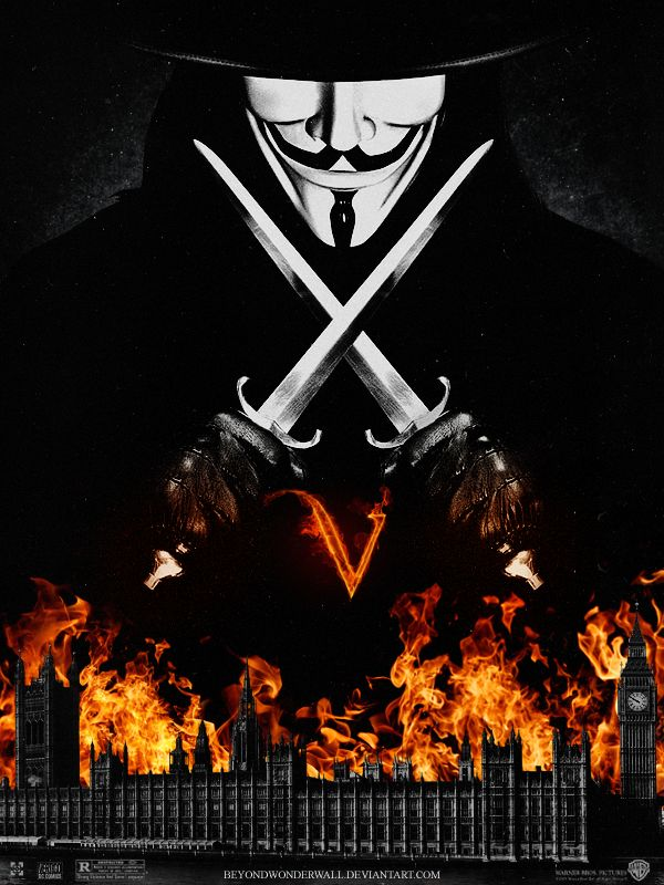 V for Vendetta Movie Poster by beyondwonderwall on DeviantArt