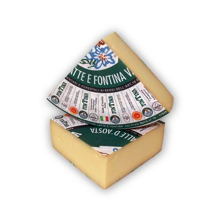 Queso Fontina. Queso italiano de vaca con denominación de origen protegida. Suave, aroma afrutado y a frutos secos.