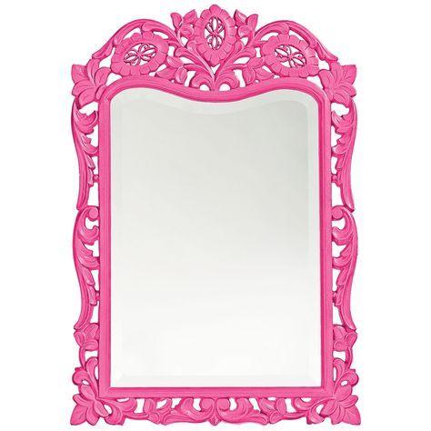 Vintage Howard Elliott St Agustine x Hot Pink Wall Mirror Style