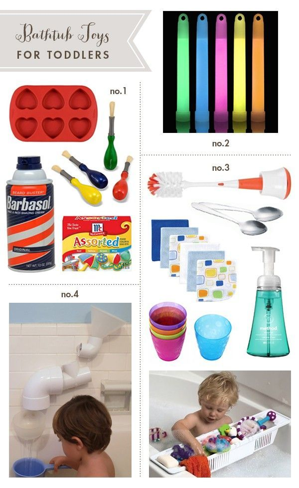 toddler bath toys using household items