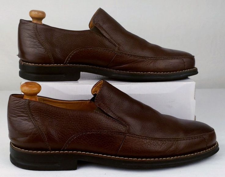 SANDRO MOSCOLONI Mens Shoes Size 10.5 D Brown Leather Loafers Slip Ons  #SandroMoscoloni #LoafersSlipOns