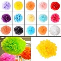 Material:Tissue Paper Color: As pictuer shows High quality and beautiful organza tissue paper flower