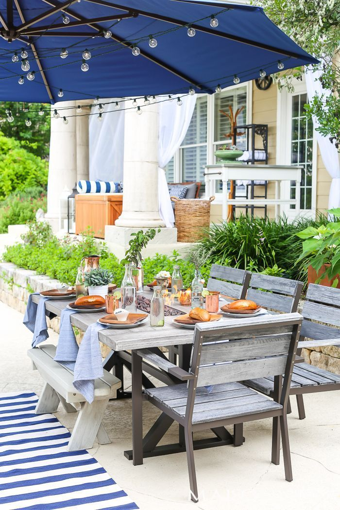 Backyard Tour And Outdoor Decorating Tips Maison De Pax Outdoor Dining Spaces Outdoor Dining Room Outdoor Living Rooms