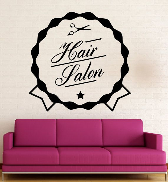Wall Sticker Vinyl Decal Beauty Sign Hair by Wallstickers4you