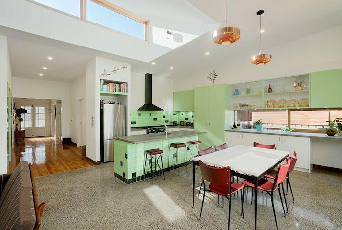 farbe mintgrün ideen zum einrichten von einer modernen küche - küche farben ideen