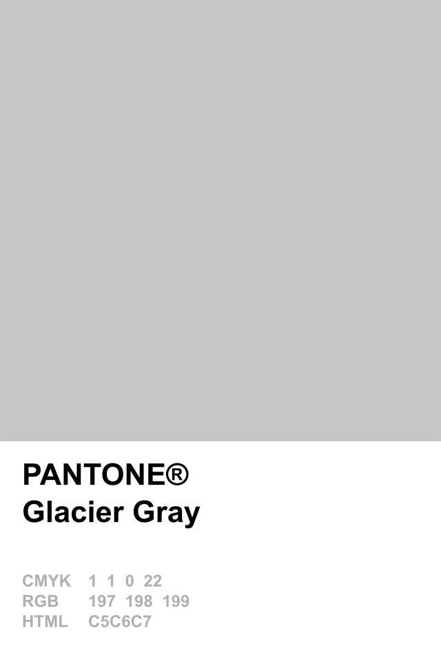 Pantone 2015 Glacier Gray