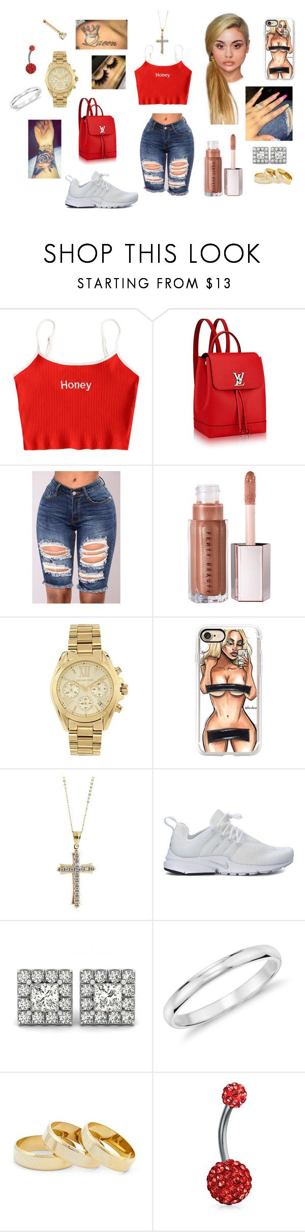 """You Make Me Feel-Cobra Starship"" by gumdrop1798 ❤ liked on Polyvore featuring Louis Vuitton, Michael Kors, Casetify, Cross, NIKE, Blue Nile, Sole Society and Bling Jewelry"