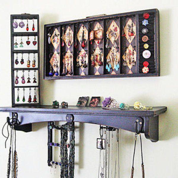 les 25 meilleures id es de la cat gorie porte bijoux mural. Black Bedroom Furniture Sets. Home Design Ideas